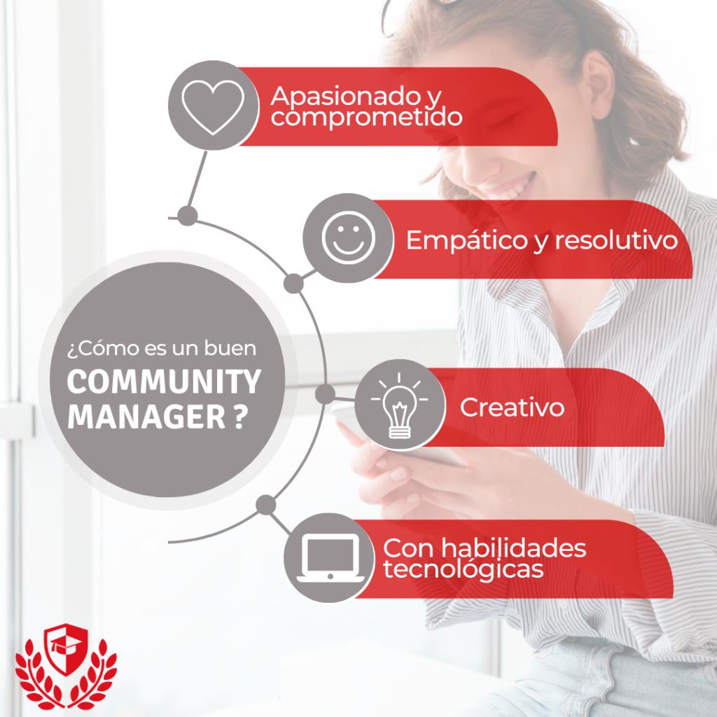cualildades del community manager